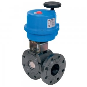 3 Way Electrically Actuated Ball Valves